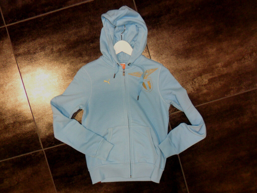 TG. S (TG.42) PUMA LAZIO FELPA CAPPUCCIO women ZIP INTERA FULL ZIP WOMEN   30