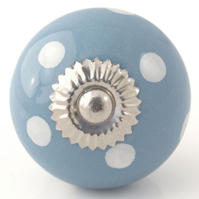 Blue purple turquoise ceramic knobs drawer pulls cupboard door knobs