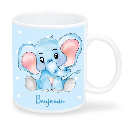 Los niños taza elefante deseo nombres kt430 personalizado vasos de plástico Kita