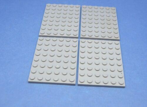 LEGO 4 x Platte 6x8 neuhell grau newgrey gray plate 3036 4211408