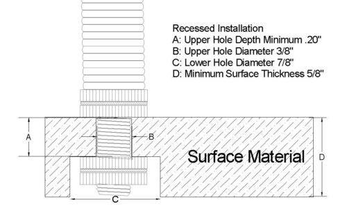 "Vise Pedestal Base Adapter DYI Fly Tying Vise 3//8/"" Shaft FV2172"