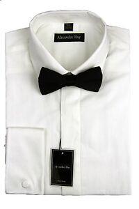 Vestido-de-noche-Alexander-heno-para-Hombre-Formal-Camiseta-Clasico-Cuello-Blanco-Bow-Tie-DR004