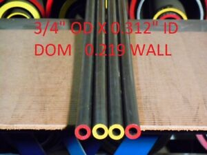 "E0368  DOM ROUND STEEL TUBE  4.000 OD  X   3.375 ID 12/""  LONG .312 WALL"