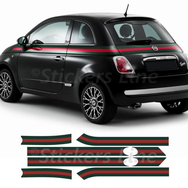 Fasce adesive Fiat 500 GUCCI Adesivi gucci strisce adesive adesivo 500 gucci