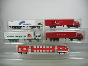 Ai628-1-4x-Wiking-h0-Camion-autoarticolati-MERCEDES-BENZ-MB-Sudmilch-SIEMENS-ETC