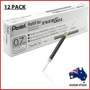 12x-BLACK-Pentel-LR7-A-EnerGel-Writing-Pen-Refills-0-7mm-Rollerball-BL407-BL107