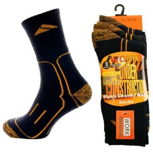 Mens Heavy Work Socks Thermal Chunky construction ideal for steel ...