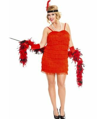 New Music Legs 70590Q-R Plus Size 1920\'s Flaming Red Flapper Costume | eBay