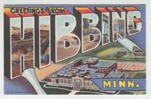68589-OLD-GREETINGS-from-HIBBING-MINNESOTA-LARGE-LETTER-POSTCARD