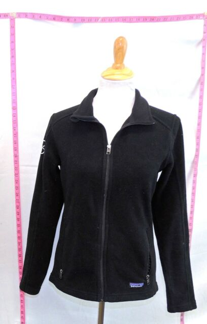 f48059436978 Patagonia Women s Black Solid Polyester Fleece Jacket Coat M  6545 B ...