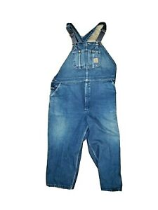 VTG-USA-UNION-MADE-CARHARTT-BIG-MENS-DENIM-BIB-OVERALLS-Size-in-Description