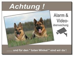 Dekoration Schäferhund-hund-aluminium-schild-0,5-3 Mm Dick-türschild-alarm-video-warnschild