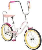 Schwinn Girl's 20 Spirit Banana Seat Polo Bike (White)