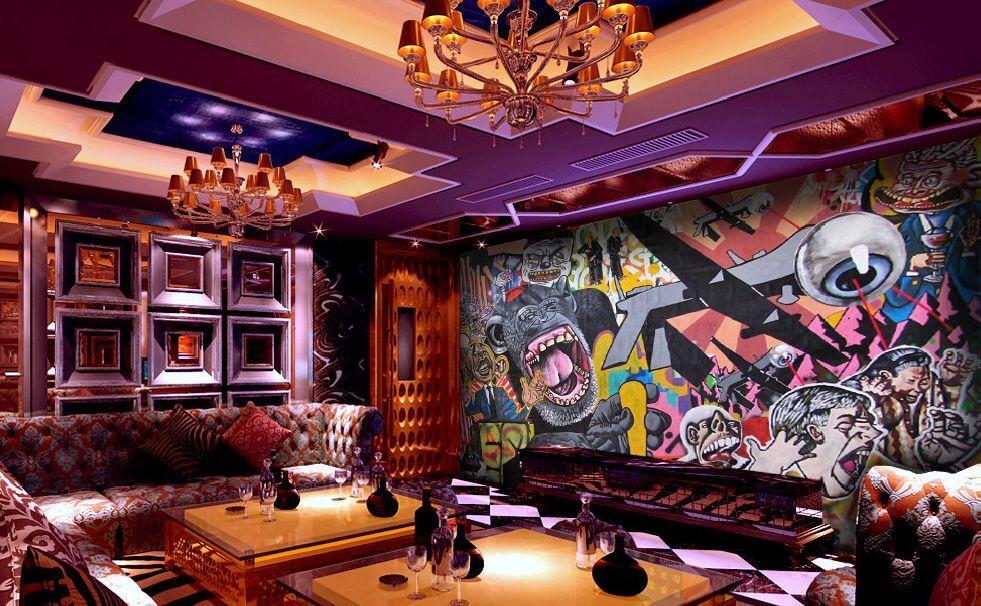 3D Gorilla, Graffiti 2576 Fototapeten Wandbild Fototapete BildTapete Familie DE