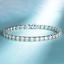 Bracciale-Tennis-Uomo-Donna-Acciaio-Inox-Argento-Cristalli-Bianco-Oro-Diamanti miniatura 7