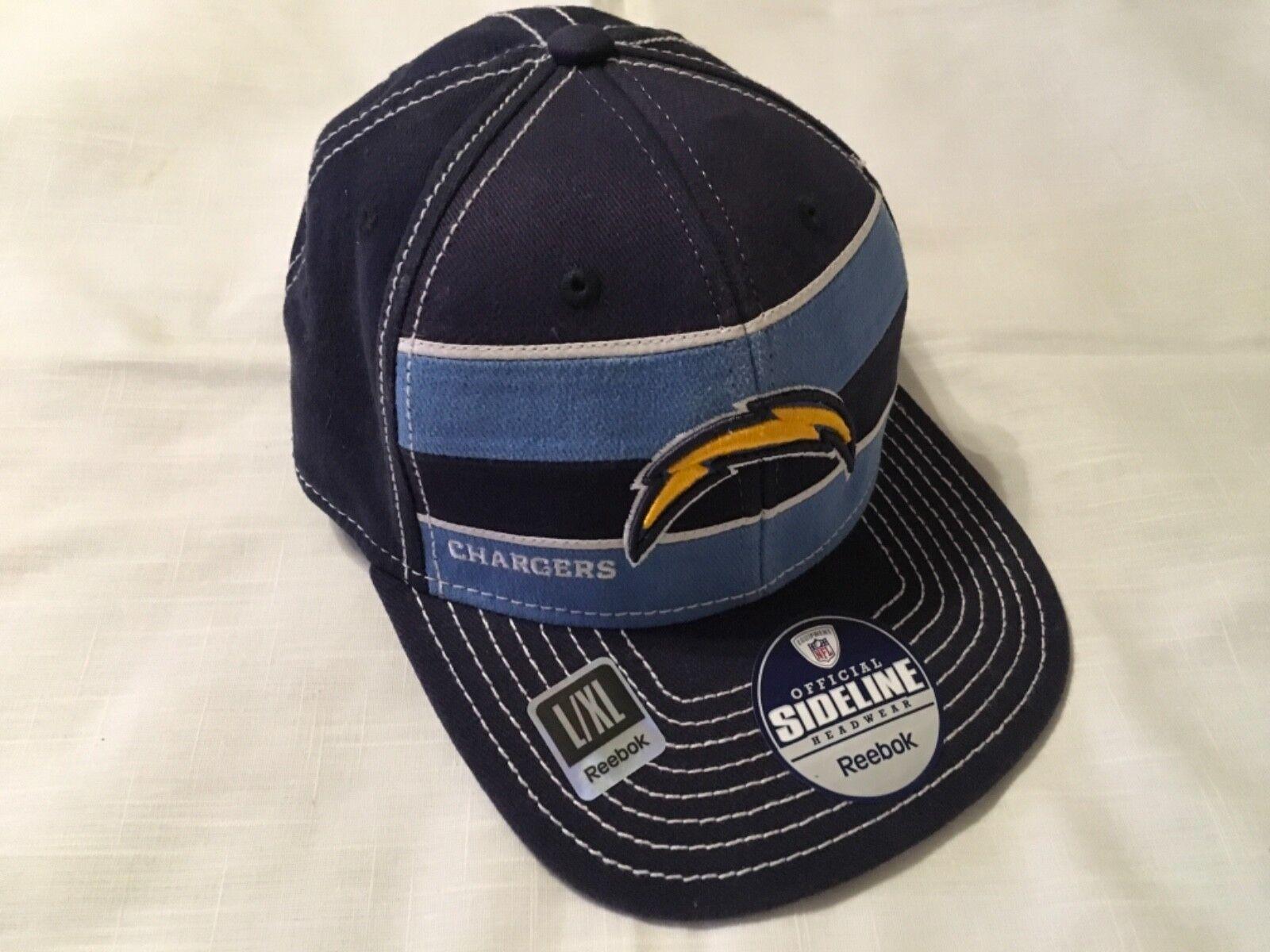New Los Angeles Chargers Cap NFL Team Apparel Reebok Baseball Cap Chargers L/XL d307d9