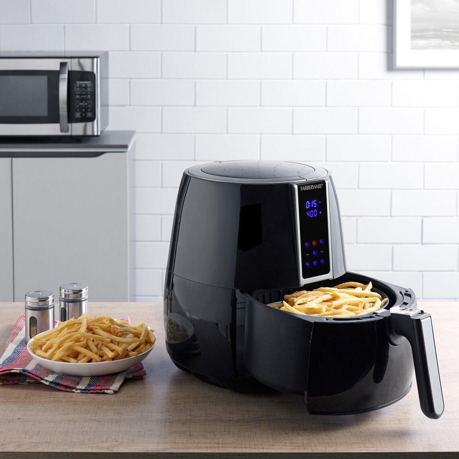 Huile moins Air Friteuse Digital 3.2 - Quart de pétrole moins cuisiniers rapide sain avec livre de recettes