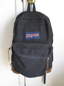 e6b1fb9747 Image is loading JanSport-Vintage-Leather-Bottom-Backpack