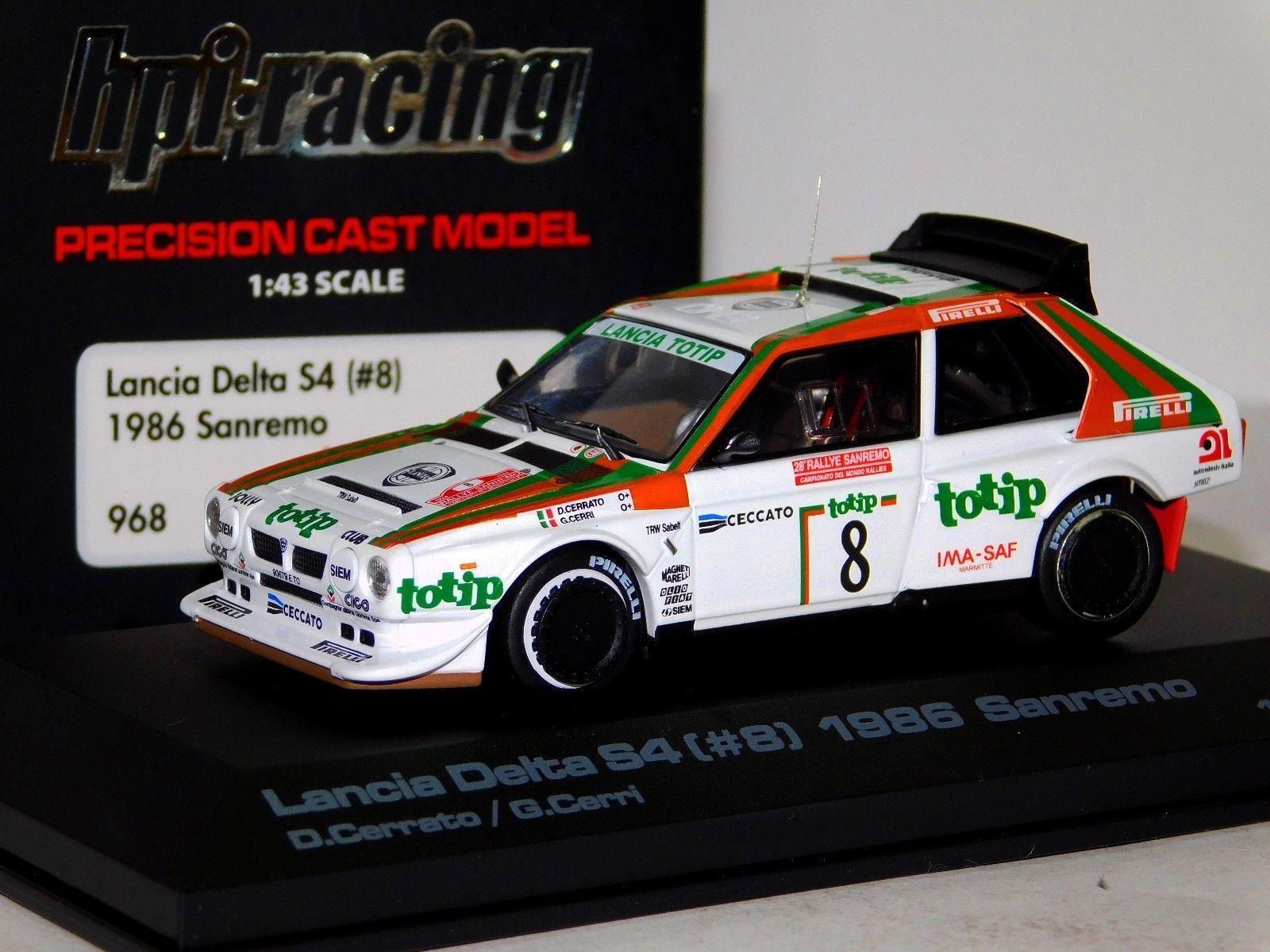 LANCIA Delta S4  8 Cerrato Cerri Sanremo 1986 Hpi 968 1 43