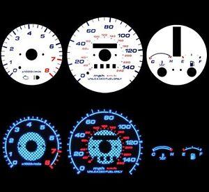 93-97-Mazda-MX-6-AT-Blue-Indiglo-Glow-White-Gauges-93-94-95-96-97