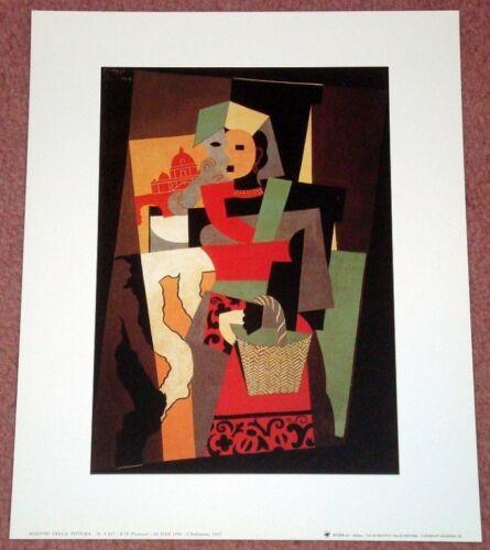 Pablo Picasso: L/'Italienne Art Print. -  9.5 x 11.75 In The Italian