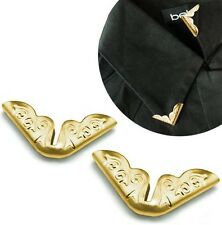 2 Pieces Blouse Shirt Metallic Metal Pointed Collar Clips Wing Tips nr 9