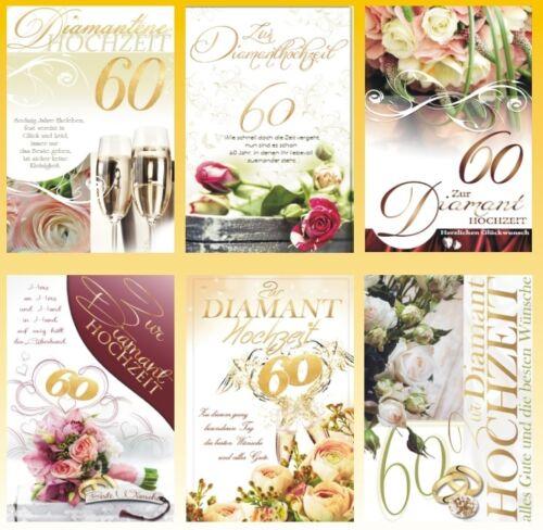 50 Diamanthochzeitskarten Diamanten Hochzeit Hochzeitskarten 731175 HI