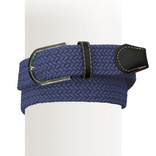 Ovation Braided Stretch Belt Grey Navy Dark Brown or Black Differ Sizes