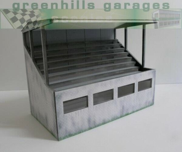 Greenhills Scalextric Slot Car Building Weathered Reims Grandstand Kit 1:43 S...