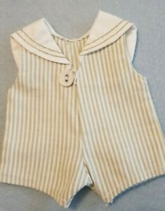 Navy-Overall-Rompers-Rompers-For-Approx-7-1-8-7-7-8in-Bears-Or-Doll