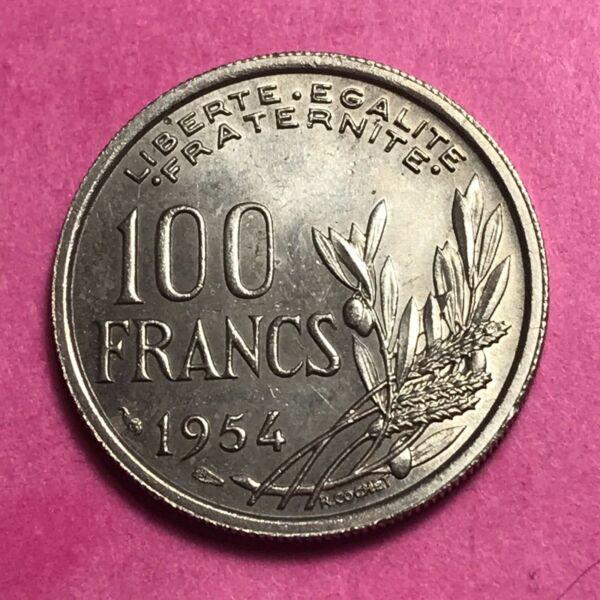 #677 - 100 Francs 1954 Cochet Sup/spl - Facture Nouveau Design (En);