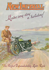 c1928 New Imperial motorcycles poster