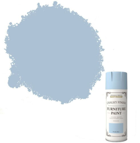 x24 RustOleum Chalk Chalky Furniture Spray Paint Shabby Chic 400ml Powder Blue