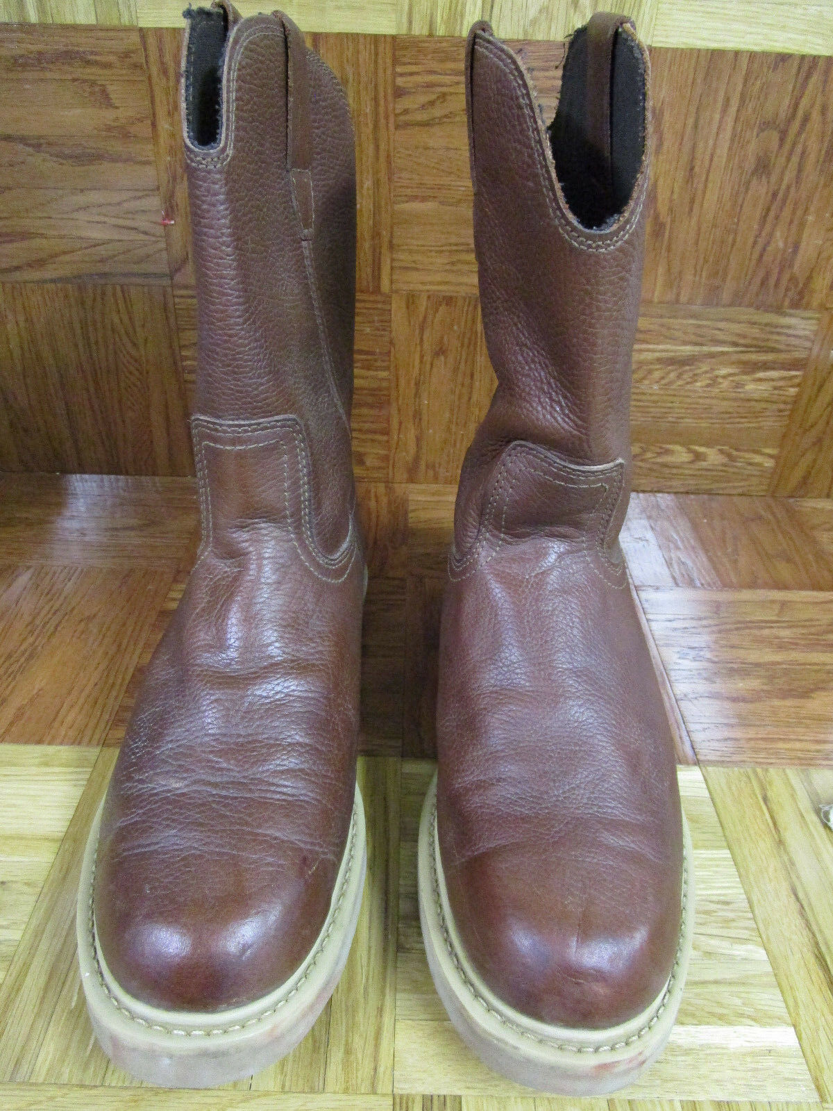 American Worker Men's Round Toe Work Boots Size 12 D