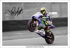 VALENTINO ROSSI SIGNED PHOTO PRINT POSTER AUTOGRAPH 2015 MOVISTAR YAMAHA MotoGP