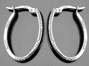 925-ECHT-SILBER-RHODINIERT-Creolen-23-mm-Ohrringe-glaenzend-diamantiert