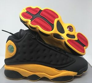 big sale 93e46 9efe5 NIKE AIR JORDAN 13 RETRO BLACK-UNIVERSITY RED-YELLOW SZ 8 ...