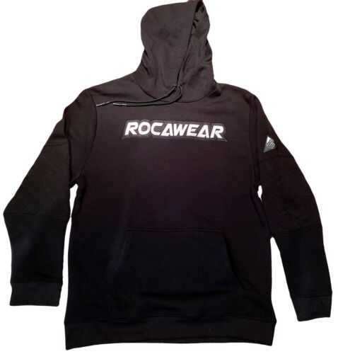 Mens /& ladies urban hip hop jogging set black designer Rocawear black tracksuit