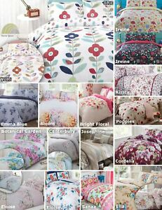 Floral-Quilt-Duvet-Cover-amp-Pillowcase-Bedding-Bed-Sets-Flowers-Modern-New