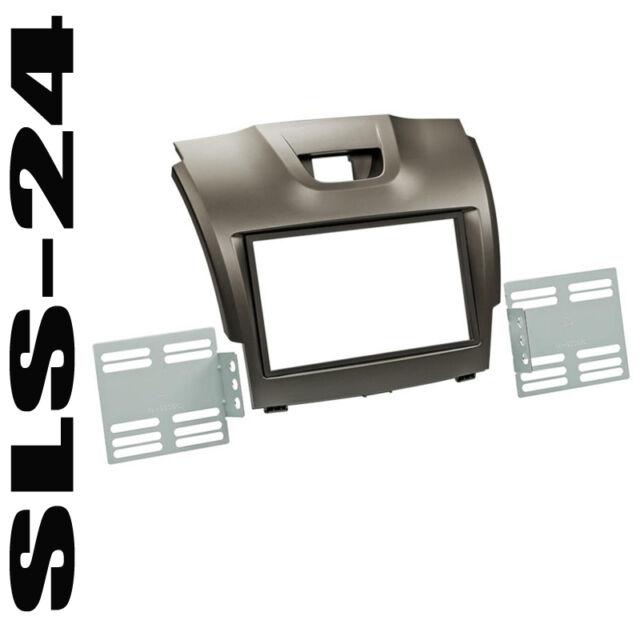 KFZ Radio Blende Einbaurahmen Doppel 2 DIN Radioblende ISUZU D-MAX ab 2012 grau