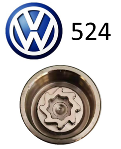 VW New Wheel Locking Nut Key Letter D, Code 524 with 17mm Hex
