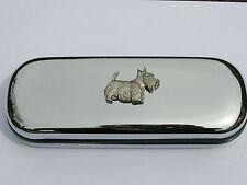 Scottish Terrier Scottie dog brand new chrome glasses case make a great gift