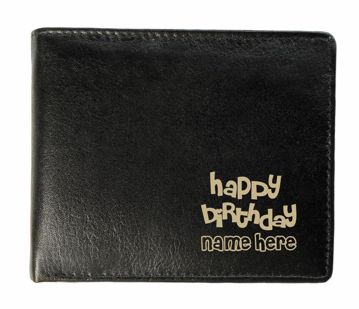 Personalised Wallet Happy Birthday