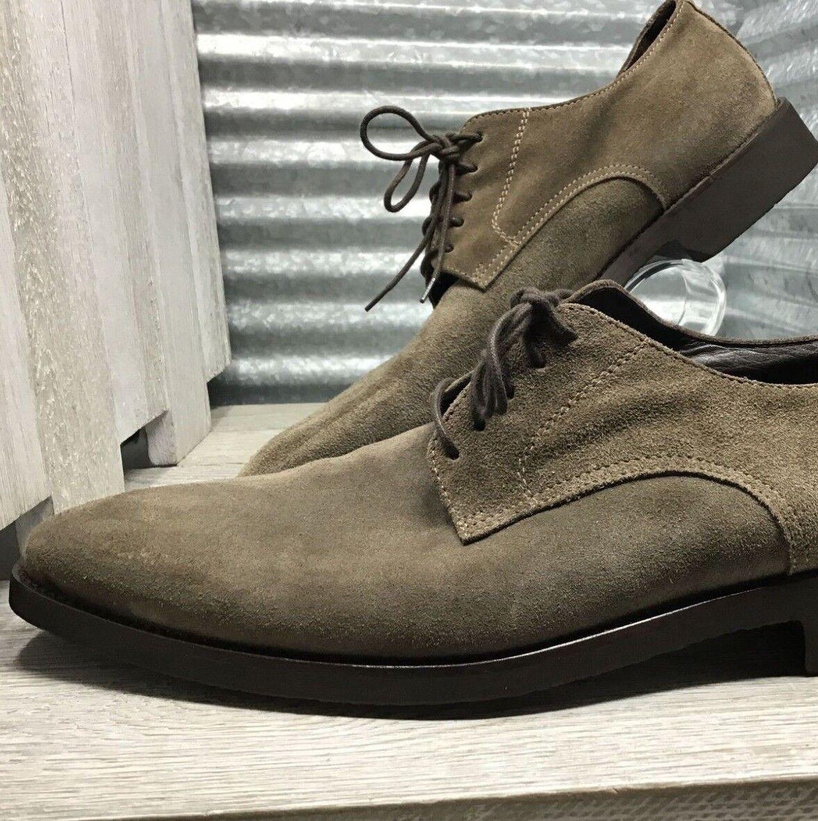 in vendita scontato del 70% Saks Saks Saks Fifth Avenue Uomo Oxford verde Suede scarpe Dimensione 11.5 Made In   ordina ora goditi un grande sconto