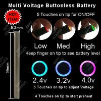 O Pen Vape Variable Voltage Buttonless Battery W/ Preheat Lot