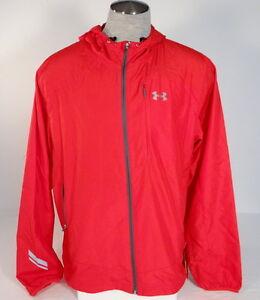 1ac35c3b Under Armour Run All Season Gear Red Imminent Hooded Running Jacket ...