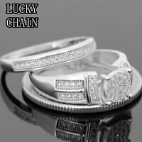 WOMEN`S 925 STERLING SILVER LAB DIAMOND ENGAGEMENT RING/6g/N36