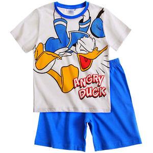 DISNEY-pyjama-pyjashort-pyjacourt-DONALD-5-6-ou-8-ans-bleu-blanc-NEUF