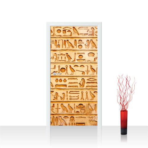 Türtapete Türposter Türfolie Hyroglyphen Alt Abstrakt Ornamente Symbole no 180