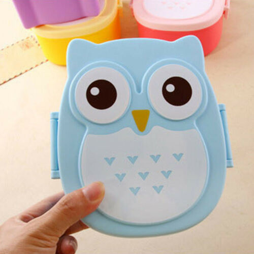 1Pc Kid Cartoon Owl Lunch Box Food Container Fruit Storage Holder Portable Box